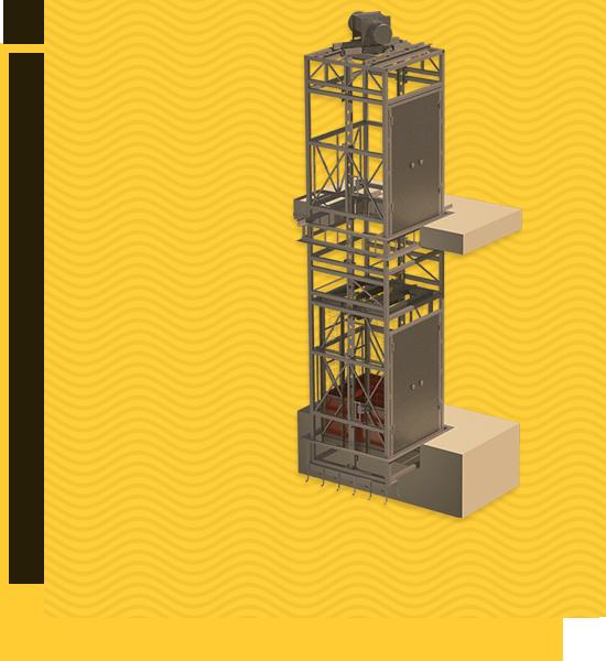 Подъемник вертикальный шахтный